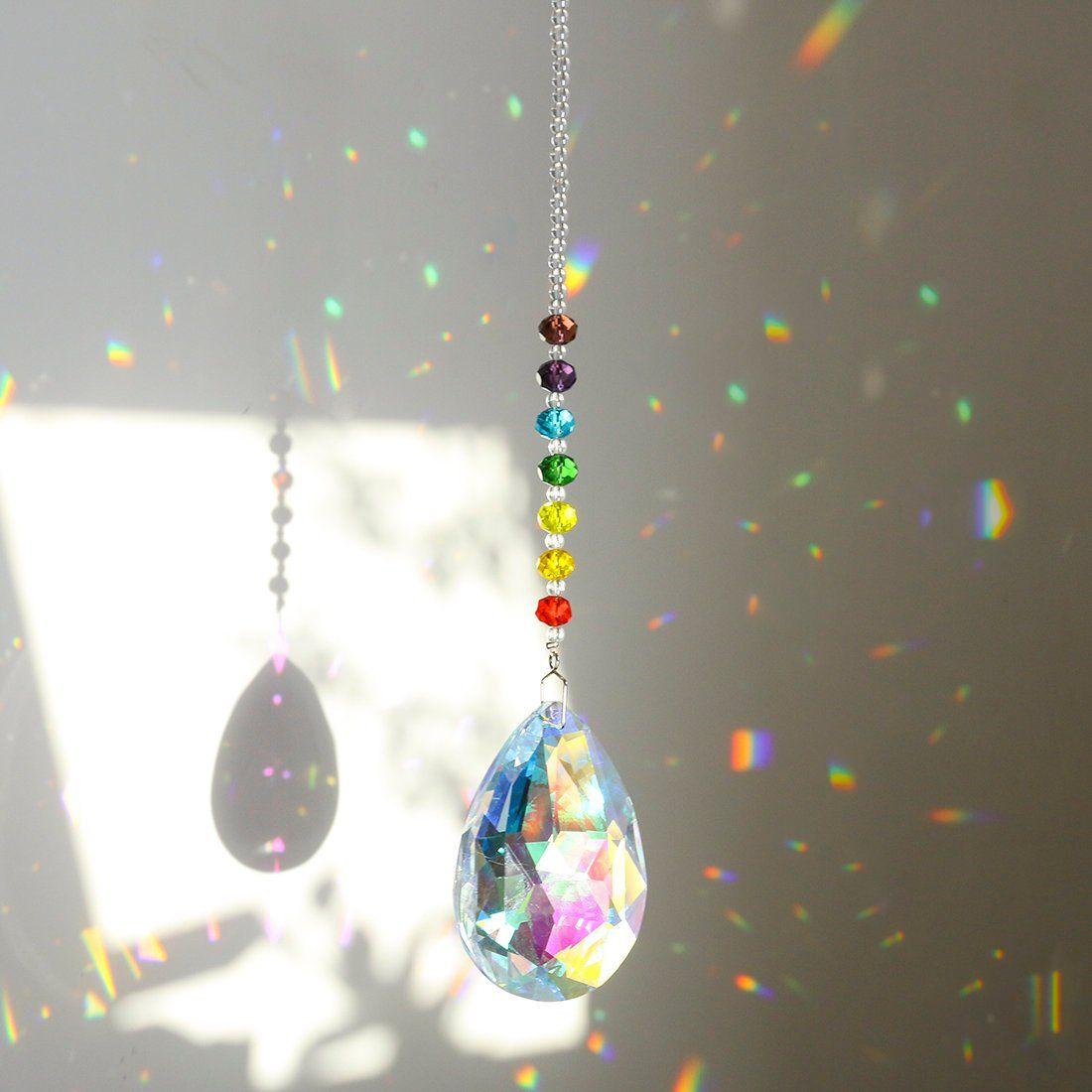 ONE CEILING LIGHTING FAN PULL LEAD GLASS CRYSTAL DIAMOND 40 MM