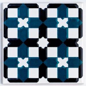 87c016b94f4 V A Owen Jones Green   Black Decor tile from House of British Ceramic Tile  http