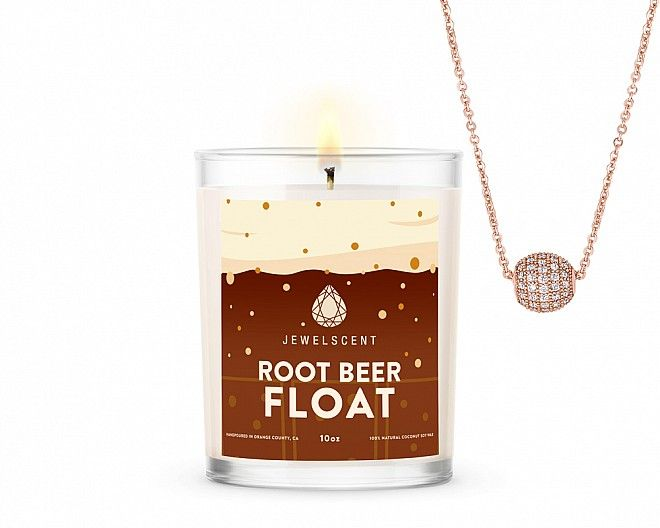 Root Beer Float Jewelry Signature Necklace Candle