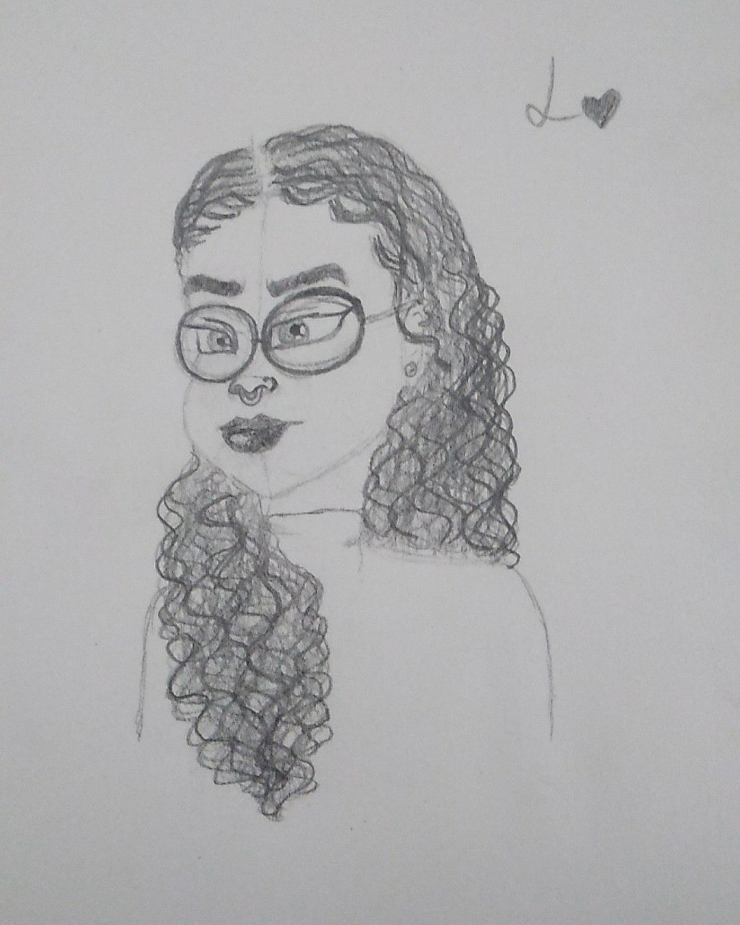 Curly Hair And Glasses Curly Hair Styles Drawings Male Sketch