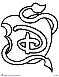 Resultado De Imagen Para Disney Descendants Logo Descendientes Para Colorear Descendientes Imagenes De Descendientes