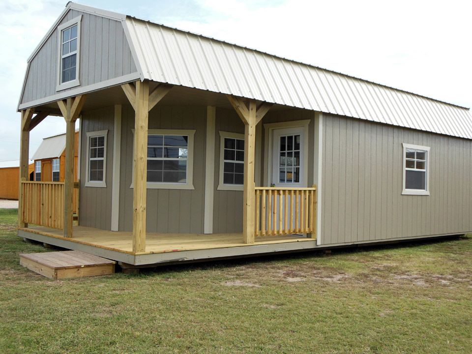 Portable Barn Homes : Derksen portable deluxe lofted barn cabin freedom