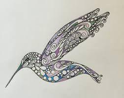 Image result for hummingbird zentangle