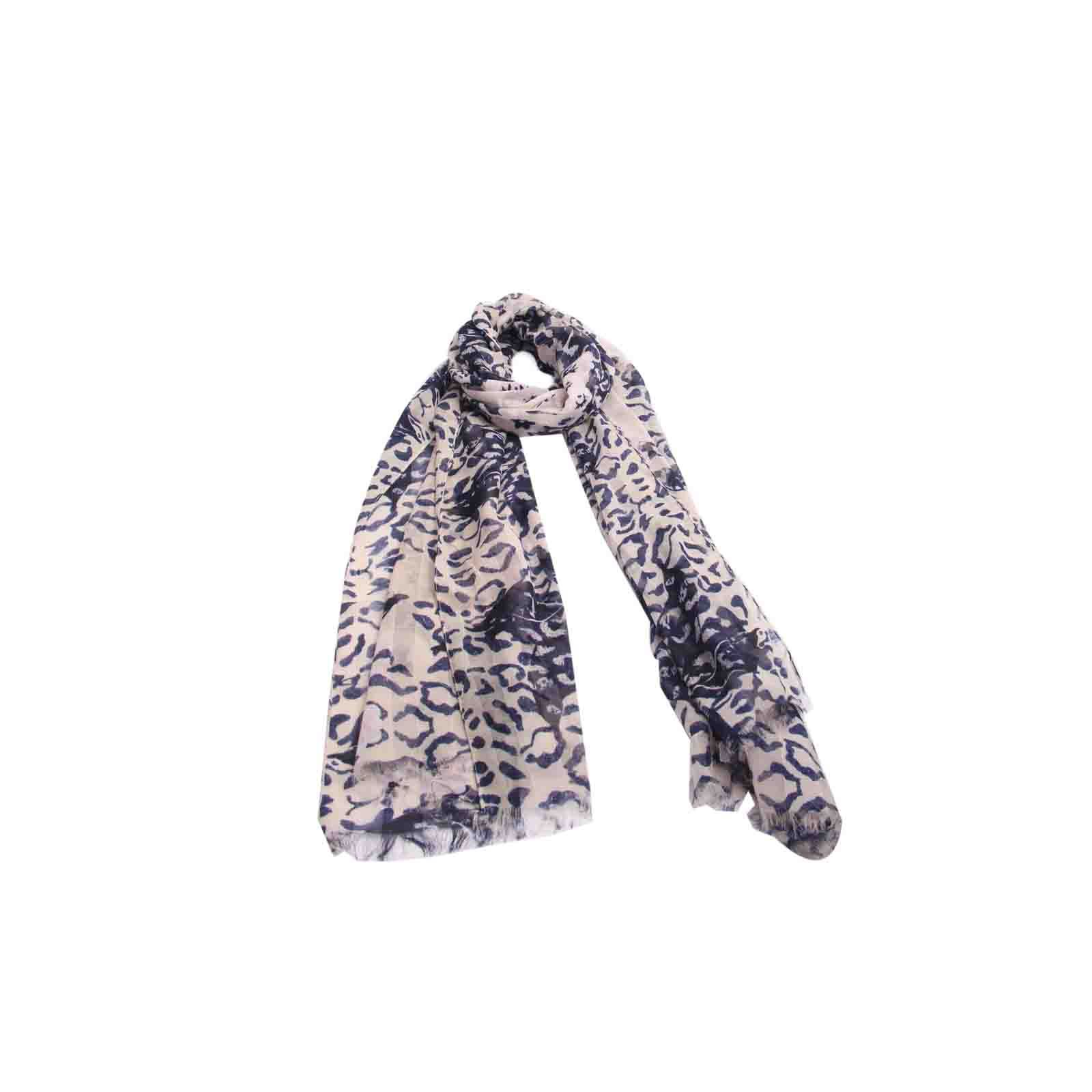 Echarpe Floral Azul Marinho #echarpe #echarpes #lenços #lenço #scarf #scarfs