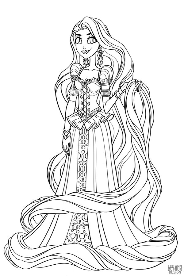 Раскраска Дисней Принцесса Рапунцель | Раскраски ...