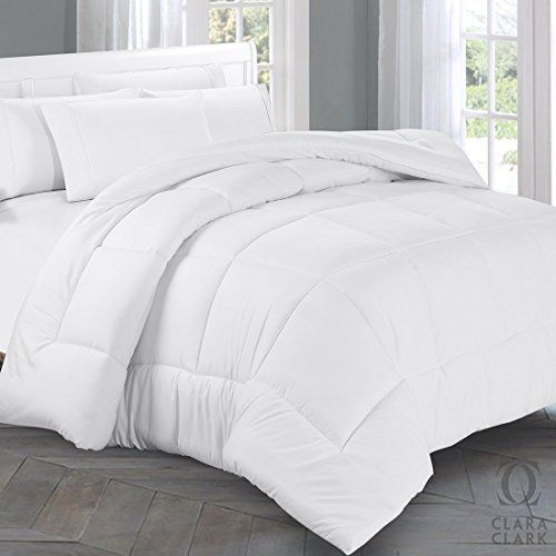 Clara Clark Box Sching Duvet Insert Warm Twin Xl Alternative Goose Down Comforter White