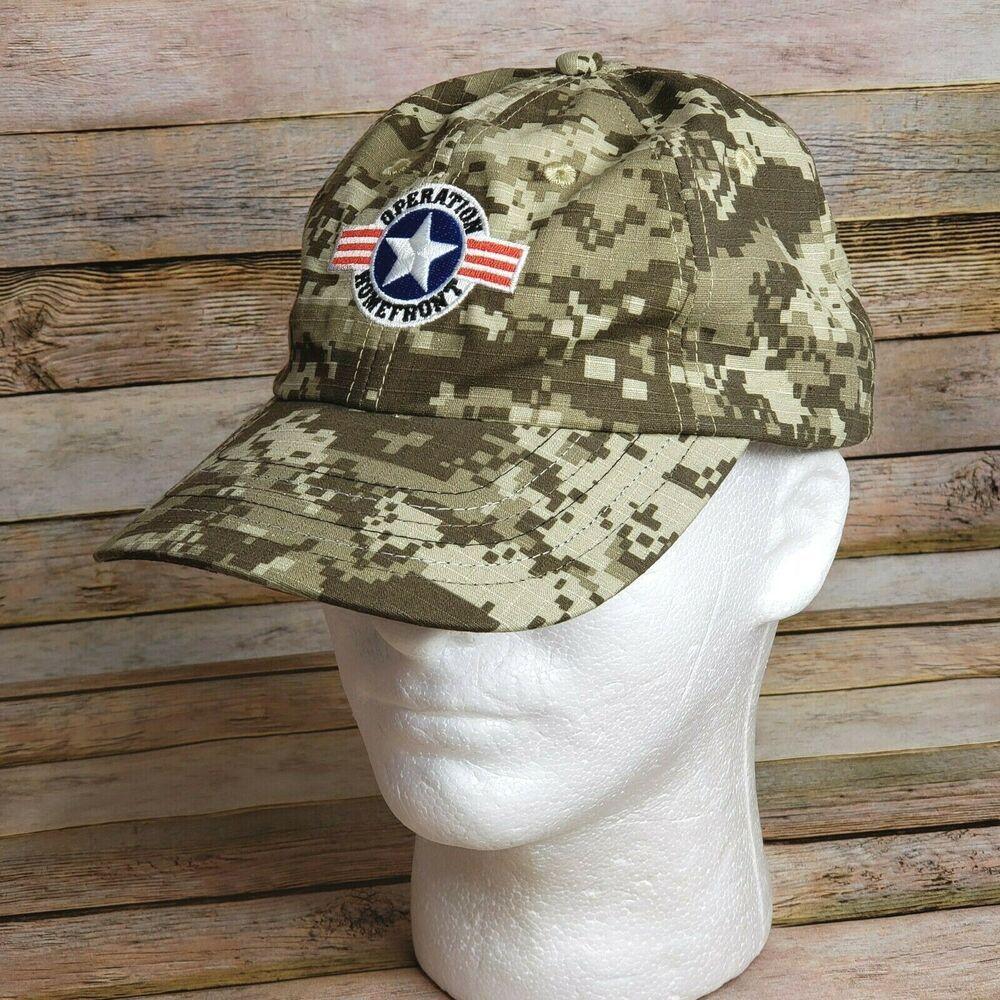 Operation Homefront Hat Cap Digital Pattern Tape Closure 100 Cotton Softicon Baseballcap Casual Digital Pattern Hats Cotton