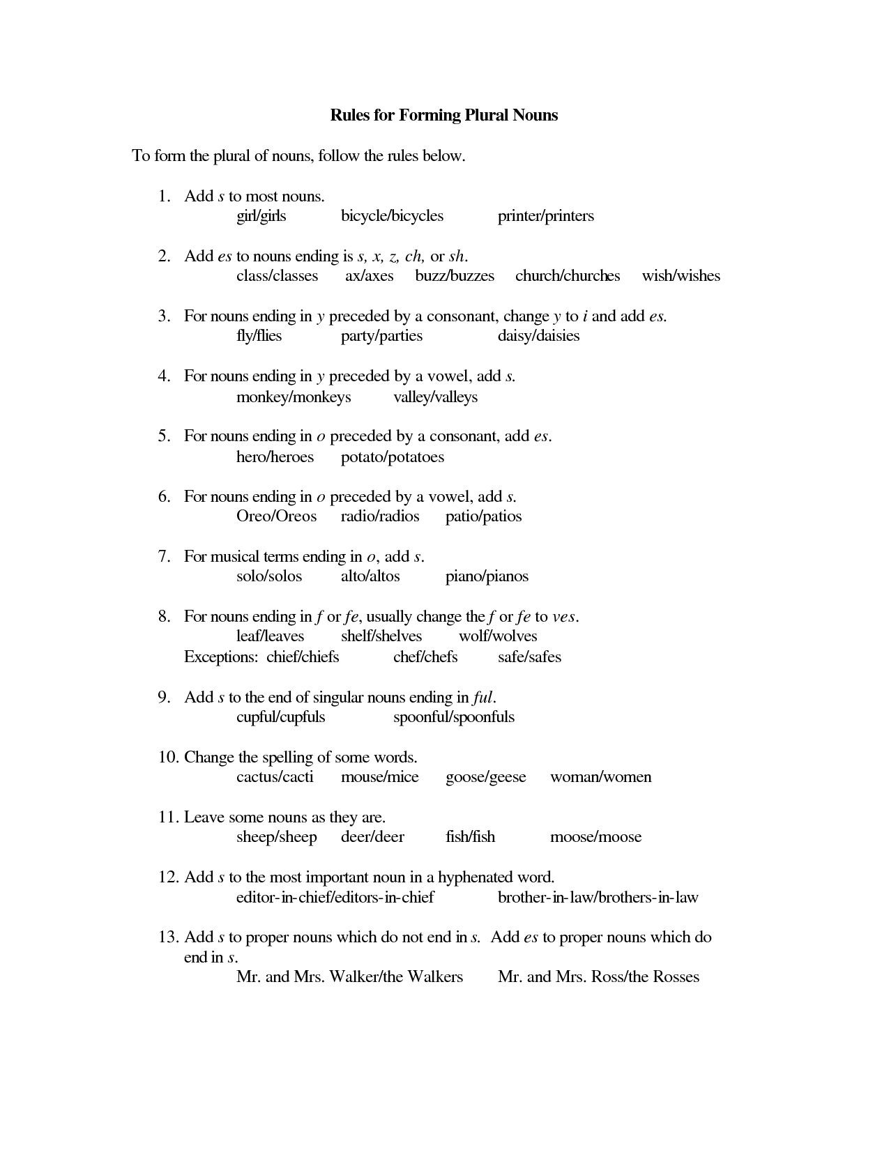 Nice 4th Grade Noun Worksheets That You Must Know You Re