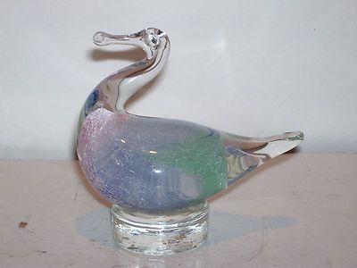 Vintage Murano Art Glass Duck Vetro Eseguito Hand Made in Italy Original Label
