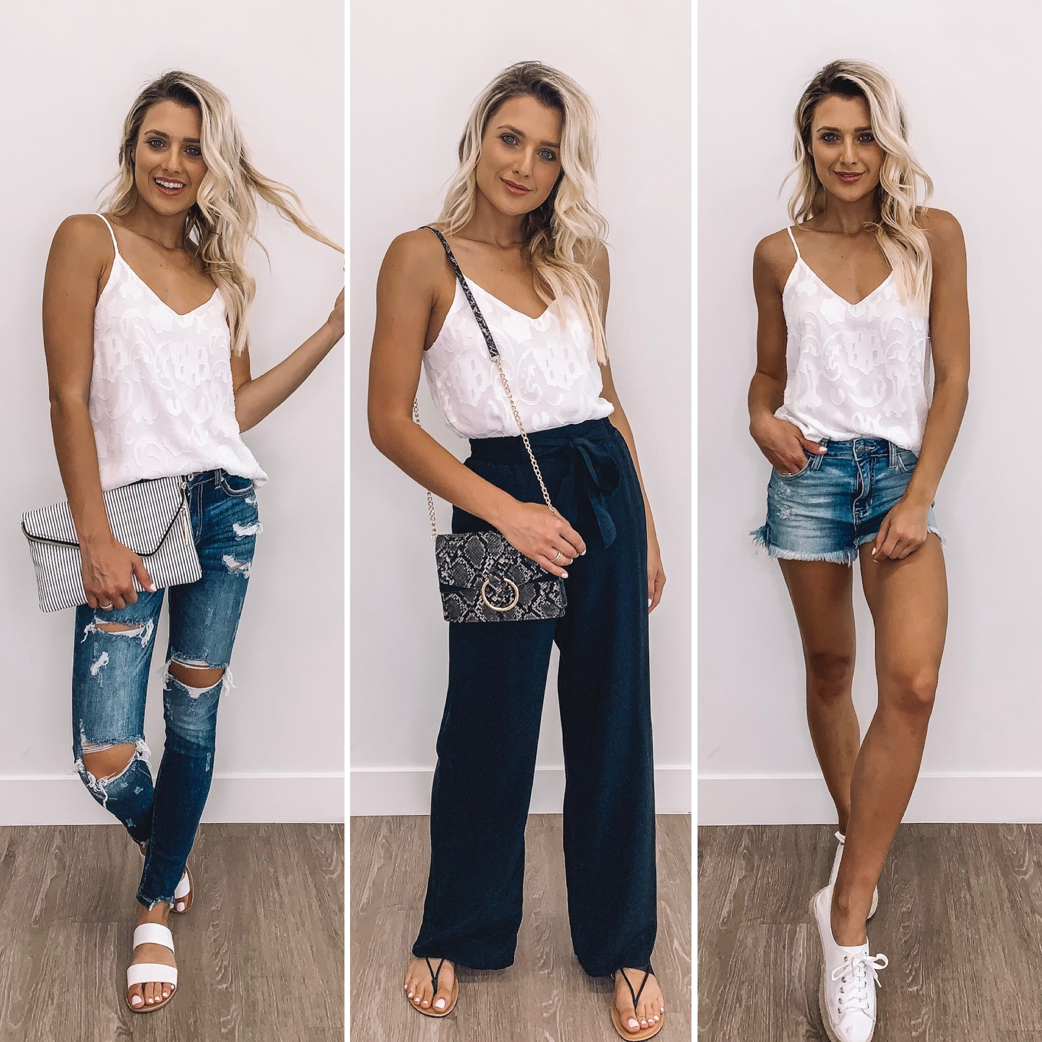 White Tank Top 7 Ways  Business casual outfits, Clothes for women