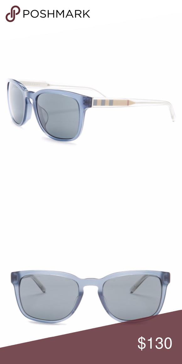 146ca0285f8f Burberry Unisex Oversized Sunglasses - Size  50-22-145mm  (eye-bridge-temple) - Frame Material  Acetate - Frame Color  Blue - Lens  Color  Blue - Protection  ...