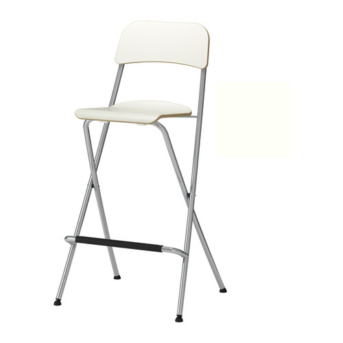 Franklin Bar Stool With Backrest Foldable White Silver Color 29 1 8 Ikea