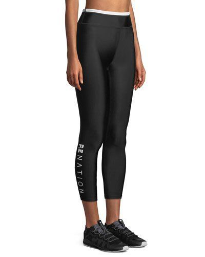 03f8d7c1 PE Nation Offside Cropped Performance Leggings | Products | Leggings ...