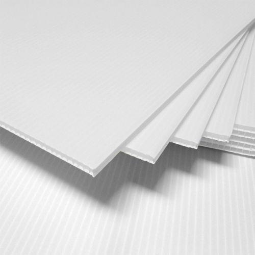 25 Pcs Corrugated Plastic 18x24 4mm White Blank Sign Sheets Coroplast Intepro Corrugated Plastic Sheets Corrugated Plastic Plastic Sheets