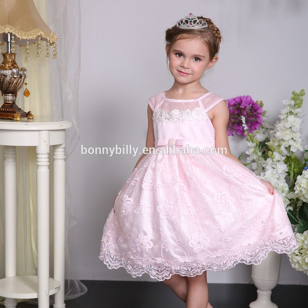 kids birthday party dress embroideried flower girl dresses of