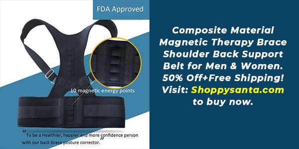 Trying to buy a Magnetic Therapy Brace Shoulder Back Support Belt? Grab the ShoppySanta Hotdeals Off...