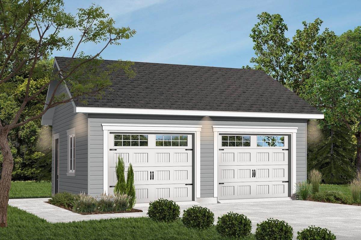 Plan 21709dr 2 Car Detached Garage In 2020 Garage Plans Detached Garage Plans With Loft Garage Building Plans