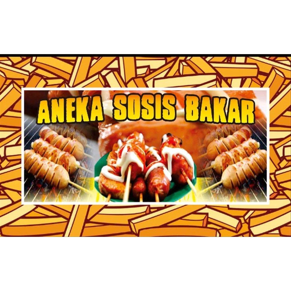 gambar banner sosis bakar in 2020 best banner design best banner banner pinterest