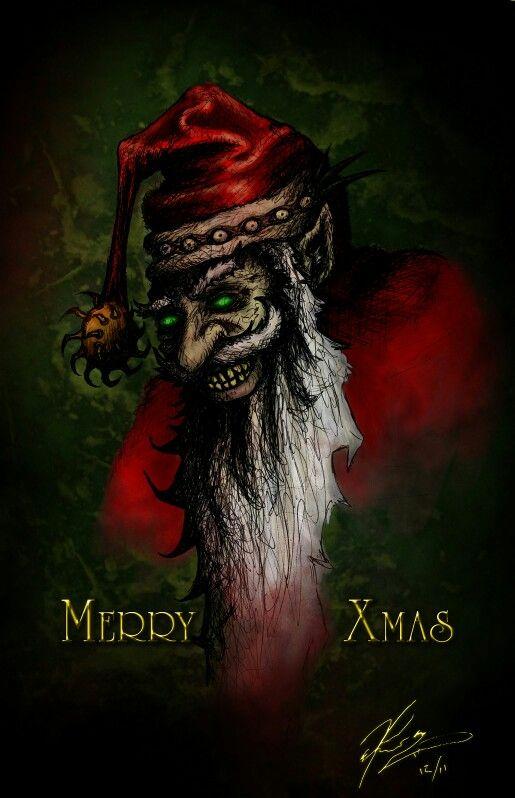 A Very Creepy Santa Scary Christmas Christmas Horror Creepy Christmas