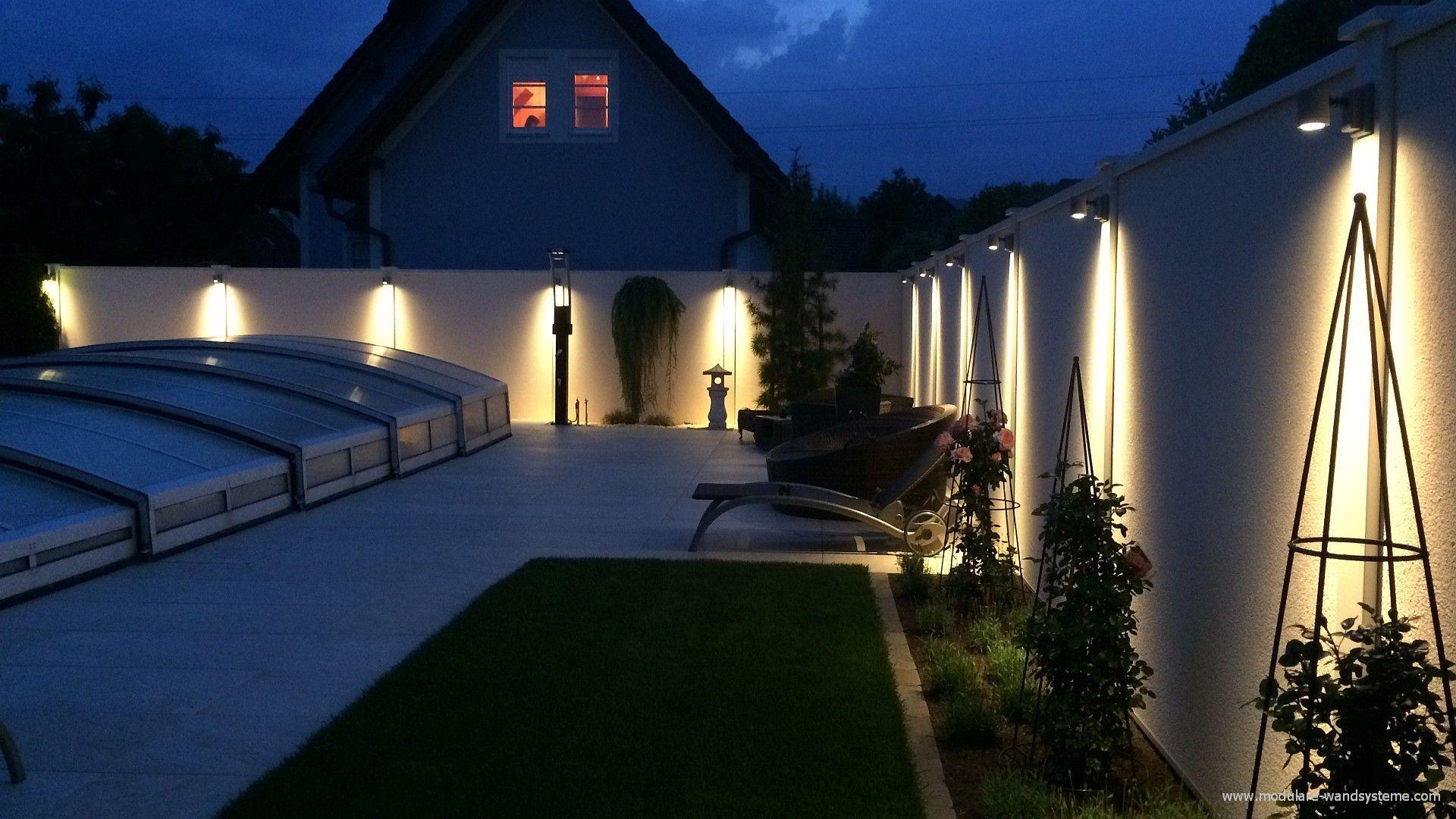 Sichtschutz am Schwimmbad bei Nacht | Ideen rund ums Haus ...