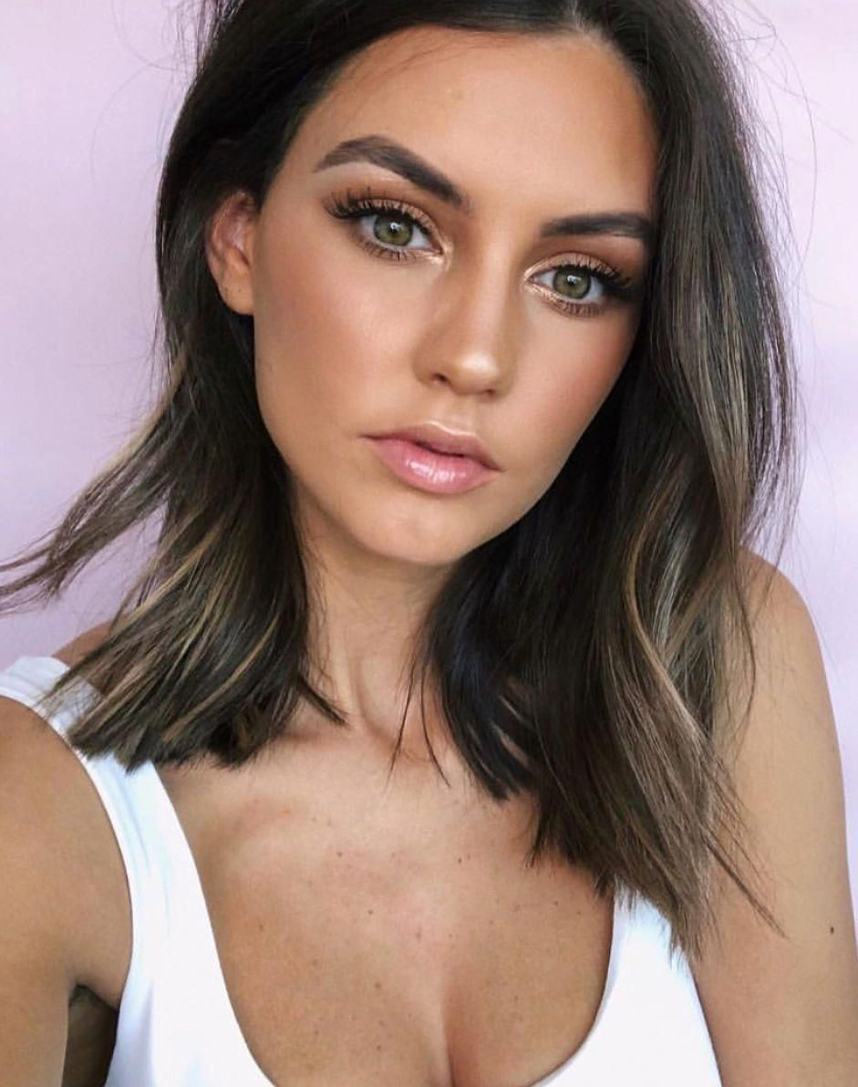 Glowy summer makeup look perfect for going out or every