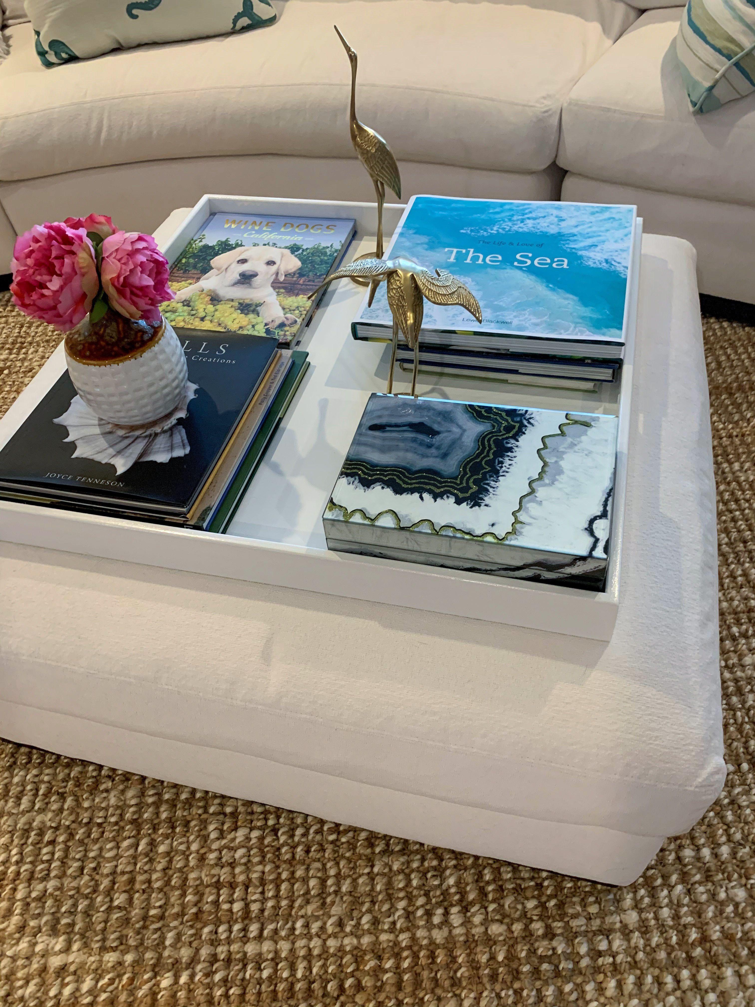 White Love It Up Decor Large Ottoman Tray Turquoise Home Decor Ottoman Tray [ 4032 x 3024 Pixel ]