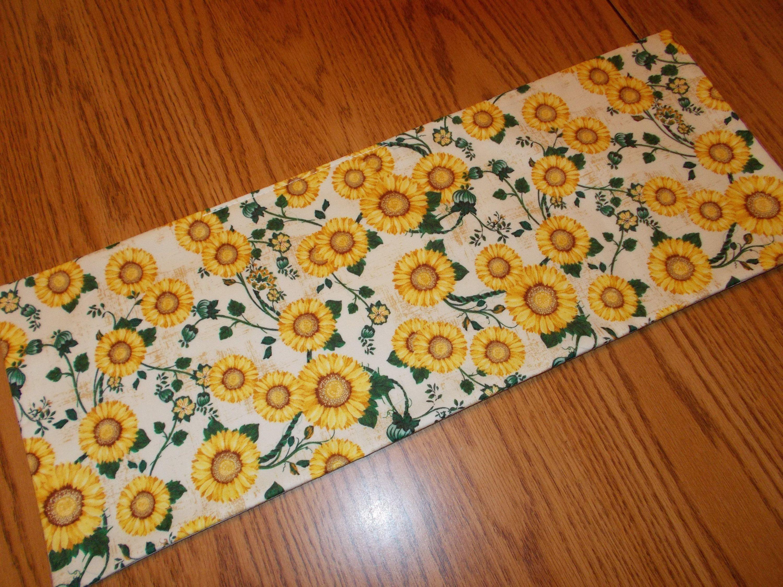 Sunflowers decor MINI table runner Toilet Tank Topper handmade floral yellow