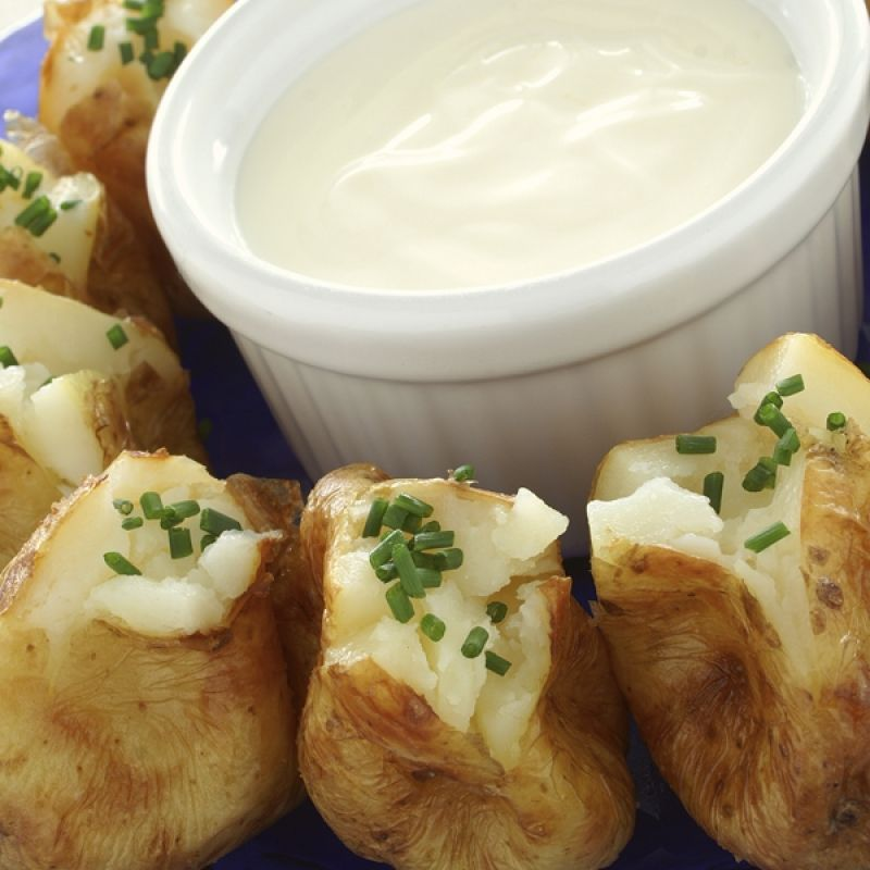 An appetizer or side dish recipe for yummy baked baby potatoes.