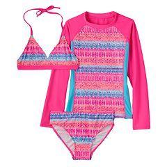 90644cc20ed9c Girls 7-16 SO® 3-pc. Rash Guard Swimsuit Set | For Anna | Big girl ...