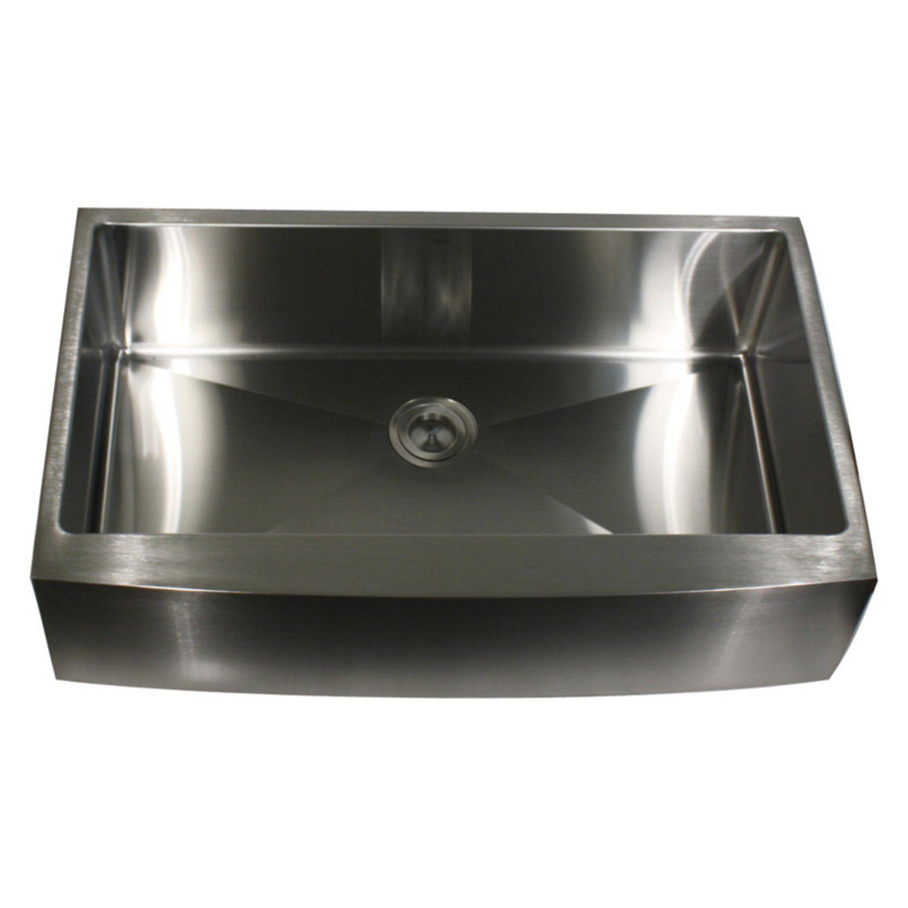 Nantucket Sinks Apron302010 Sr 16 Pro Series Single Basin Farmhouse Apron Kitchen Sink Apron302010 Sr 16 Apron Sink Kitchen Apron Front Kitchen Sink Single Bowl Kitchen Sink