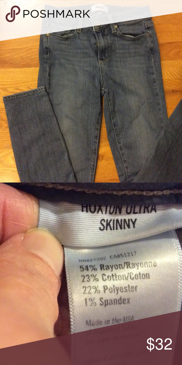 Paige Hoxton Ultra Skinny 25 Super cute Paige jeans. Sz 25. No flaws. Unhemmed. Paige Jeans Pants Skinny