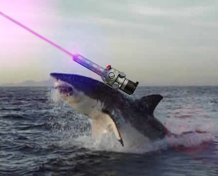 to heck with fireworks we got fricken sharks with laser beams