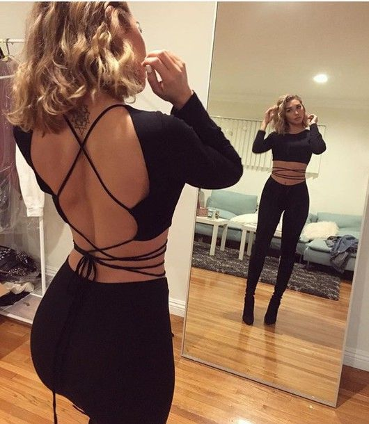 2e68f17a80 top strap wrap around backless top shirt black crop top open back strapp  black blouse one piece black shirt cute strappy shirt tie strap jumpsuit  tie top ...
