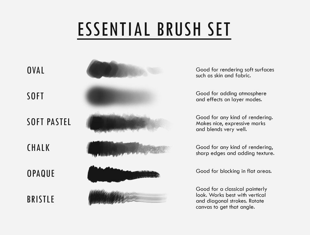 Essential brush set by shilesque brush set
