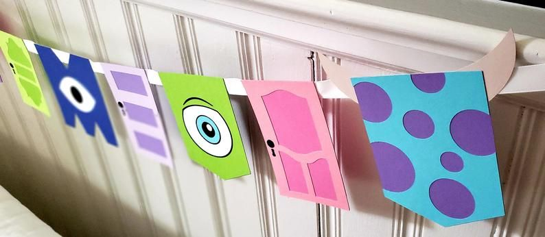 Monsters Inc. Banner - Monsters Inc. Birthday - Monster's Inc. Party - Monsters Inc. Decorations - Monsters Inc Garland