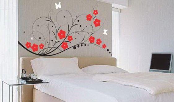 Wandtattoo Blumen Schlafzimmer Wandtattoo Wanddekor Schlafzimmer Schlafzimmer Wand Designs Wandbilder Schlafzimmer