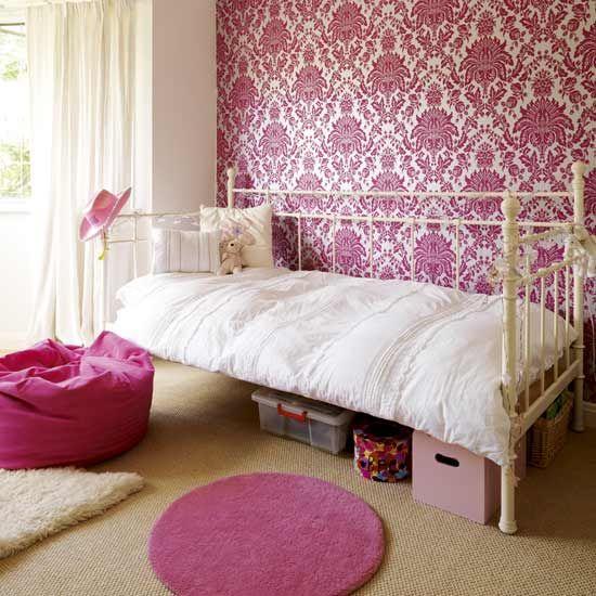 pink damask wallpaper for room? | kid's room | pinterest | ragazze