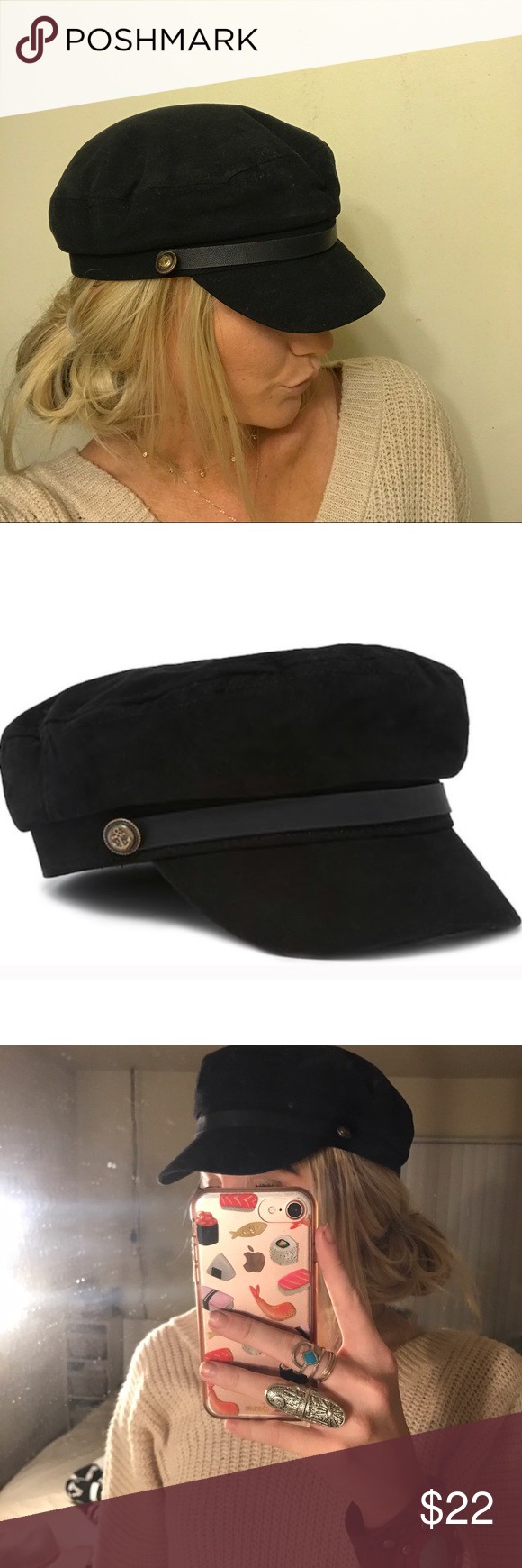 Brixton-Like Fiddler Captain Cap Super cute and on trendy fisherman ... 7a0db4a72f67