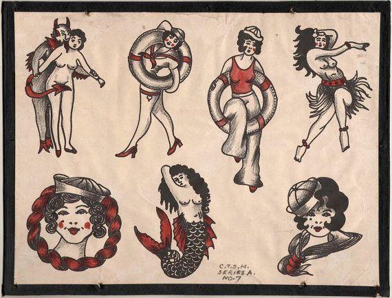 dc4ec6aad 1930 s vintage vintage chicago vintage tattoo flash vintage flash ...