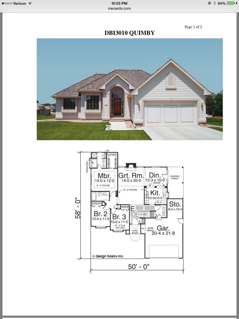 Menard Floorplans House Styles House Plans Floor Plans