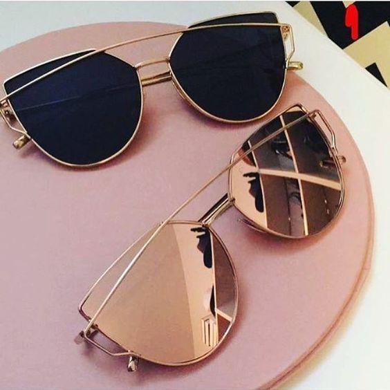 rose gold mirrored sunnies
