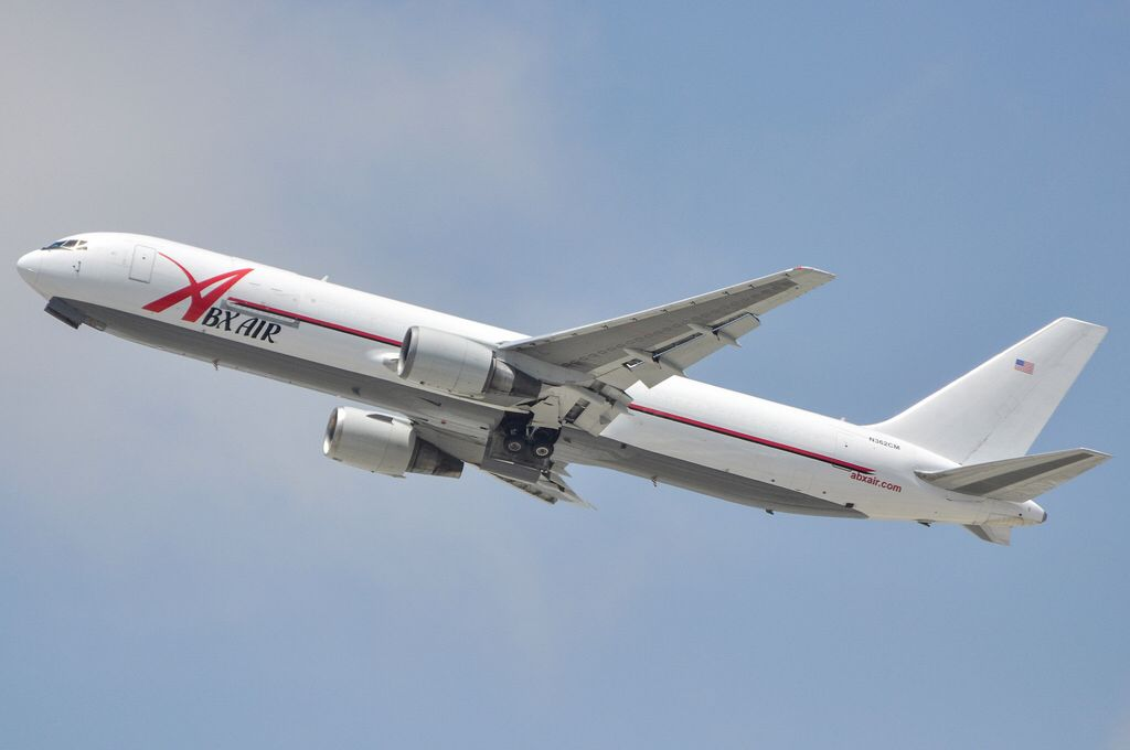 ABX Air 767-338ER/BDSF departing LAX on May 25, 2013