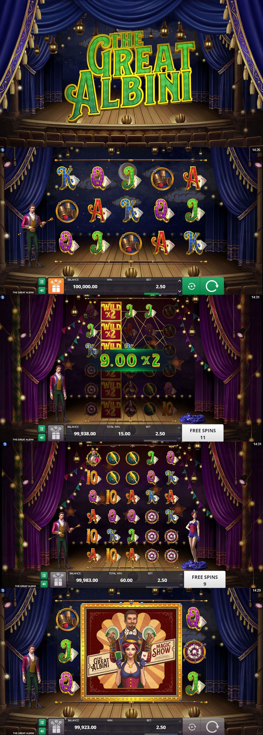 Онлайн слот The Great Albini Online casino, Best casino