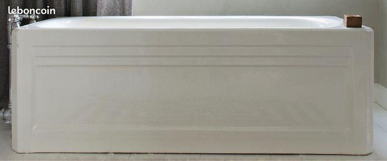 baignoire art deco emaillee lavabo