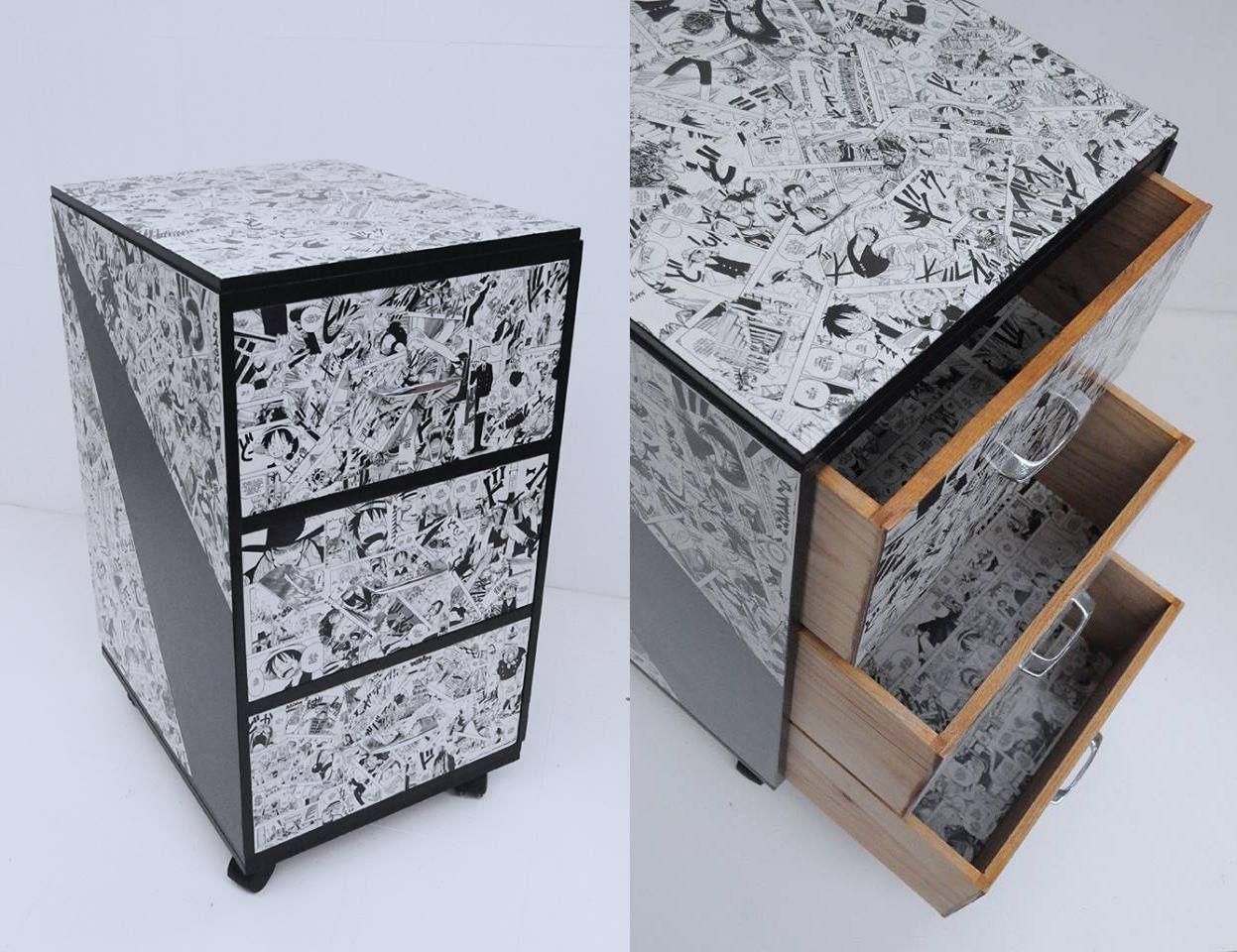 commode manga par atelier d 39 co solidaire r cup. Black Bedroom Furniture Sets. Home Design Ideas