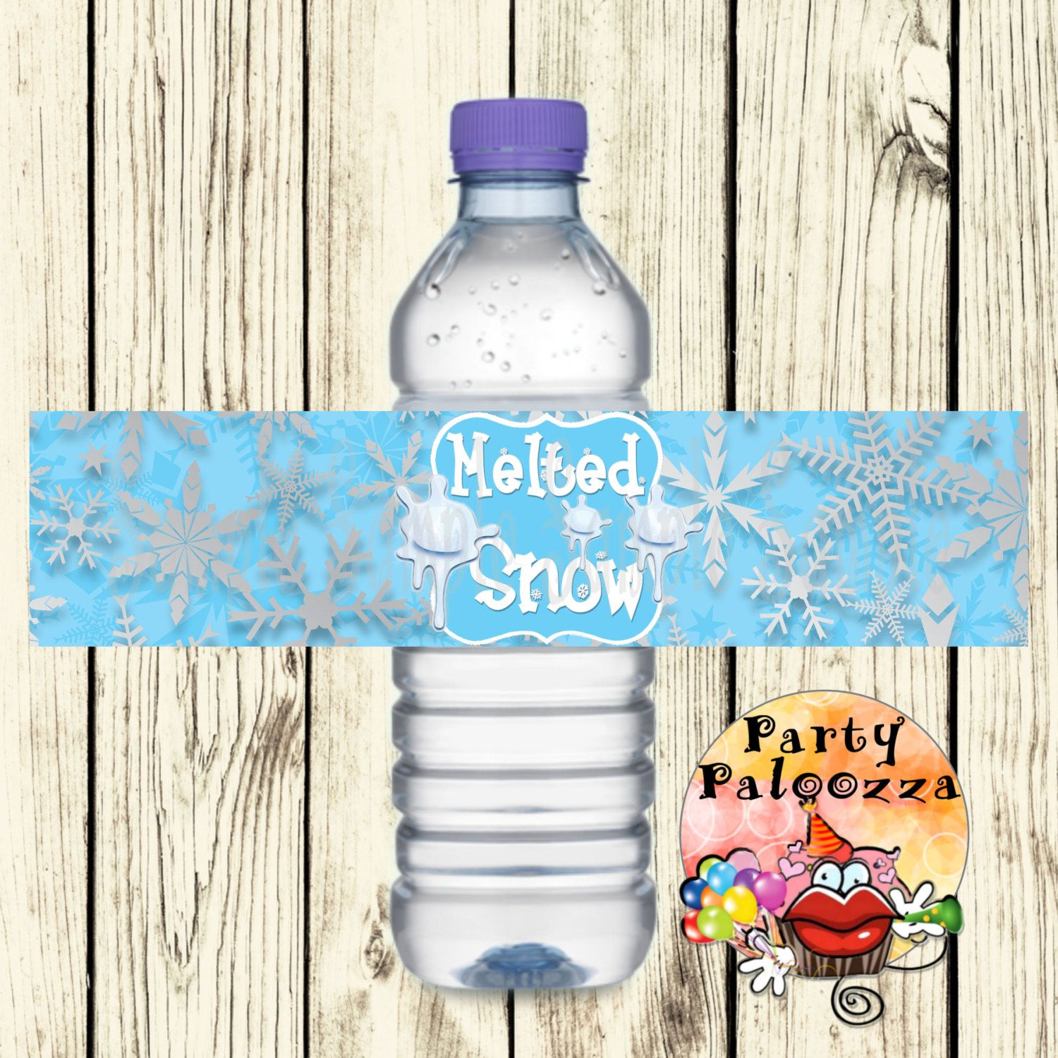 Printable Winter ederland Water bottle label by PartyPaloozza on