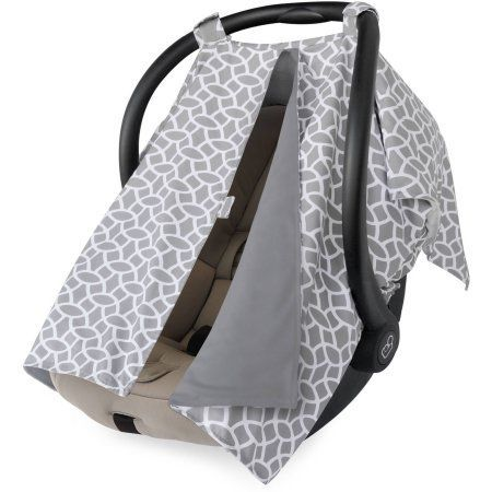 On The Goldbug Infant Car Seat Canopy Cover Grey Gray