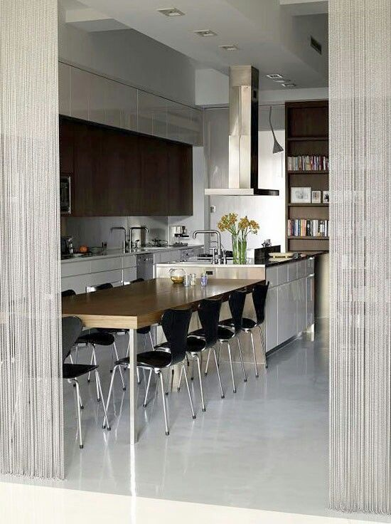 Join The Dining Table To Kitchen Island