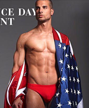 American Flag Speedo Guy : american, speedo