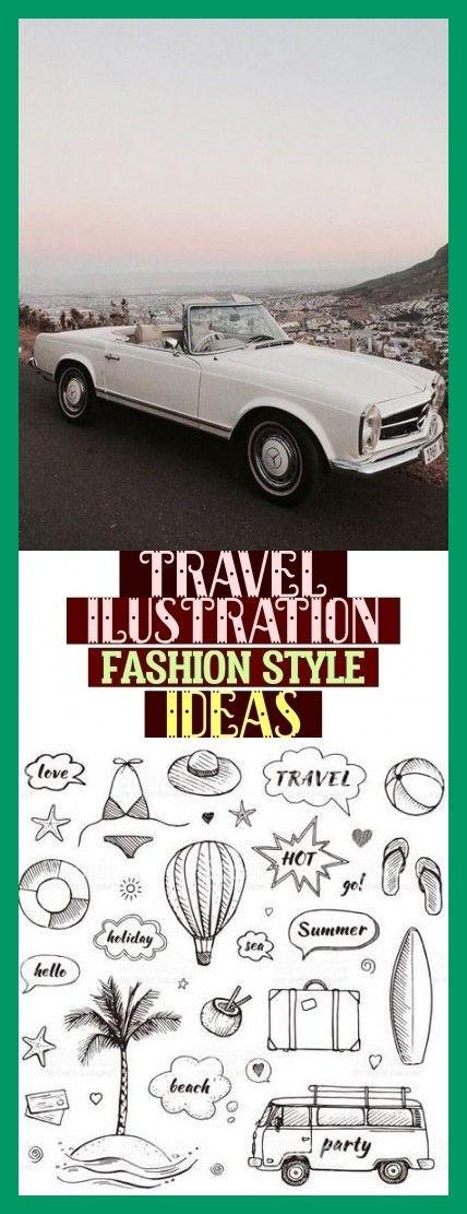 Más de 55 ideas de estilo de moda de ilustración de viaje #travelilustration específicos …